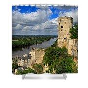 Tour Du Moulin And The Loire River Shower Curtain