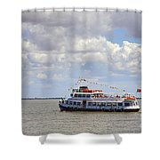 Touring Boat Shower Curtain by Carlos Caetano