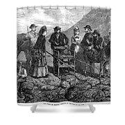 Tourists At Vesuvius, 1872 Shower Curtain