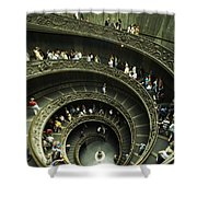 Tourists Descend The Double Spiral Shower Curtain