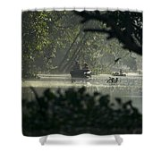 Tourists Exploring The Rain Forest Shower Curtain