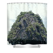 Tourists In Canoes Explore Rainforest Shower Curtain