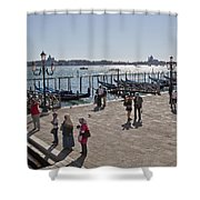 Tourists In Venice Shower Curtain