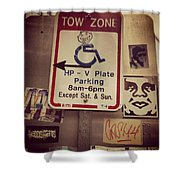Tow Zone Collage Shower Curtain