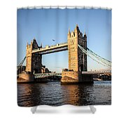 Tower Bridge And Helicopter Shower Curtain