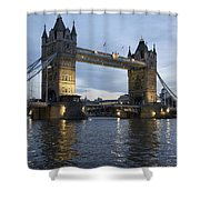 Tower Bridge And River Thames At Dusk Shower Curtain