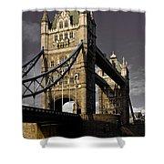 Tower Bridge Shower Curtain by David Pyatt