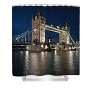 Tower Bridge Dusk Shower Curtain