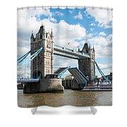 Tower Bridge Opening Shower Curtain