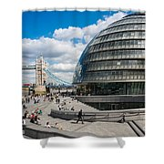 Tower Bridge With City Hall Shower Curtain
