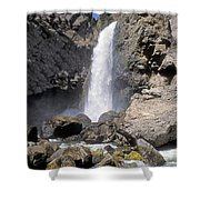 Tower Fall Of Yellowstone Shower Curtain