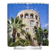 Tower In Puerto Banus Shower Curtain