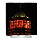 Tower Life Building At Night Shower Curtain