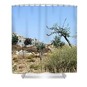 Tower Of Beitin - Biblical Bethel Shower Curtain