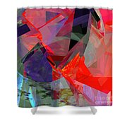 Tower Poly 23 Vortex Shower Curtain