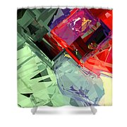 Tower Poly 27 Jewel Box Shower Curtain