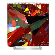 Tower Series 45 Angels And Demons Shower Curtain
