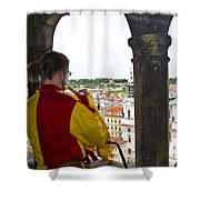Tower Trumpeter - Prague Shower Curtain