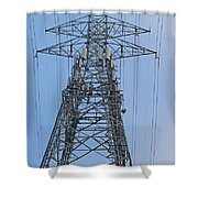 Towers And Lines Shower Curtain