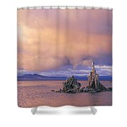 Towers Of Calcium Carbonate Called Tufa Shower Curtain