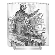Town Meeting, 19th Century Shower Curtain