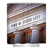 Town Of Silver City New Mexico Shower Curtain