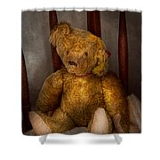 Toy - Teddy Bear - My Teddy Bear  Shower Curtain by Mike Savad