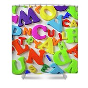 Toy Letters Shower Curtain