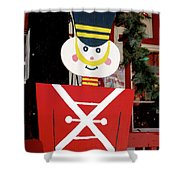 Toy Soldier Christmas In Virginia City Shower Curtain