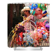 Toy Vender In San Jose Del Cabo Mexico Shower Curtain