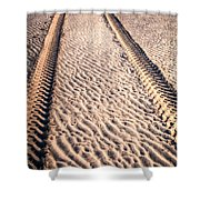 Tracks In The Sand Shower Curtain