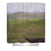 Tracks On The Field Shower Curtain