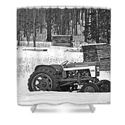 Tractor At The Mill  Shower Curtain