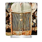 Tractor Face Shower Curtain