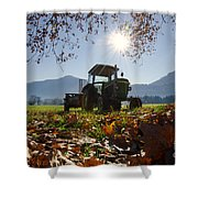 Tractor In Backlight Shower Curtain