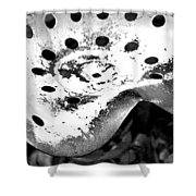 Tractor Seat Close Up Black And White Shower Curtain