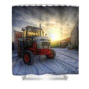 Tractor Sunrise Shower Curtain