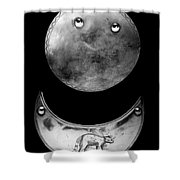 Trade Silver Gorgets Shower Curtain