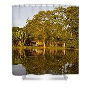 Traditional Amazon Village Shower Curtain