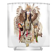 Traditional Pow-wow Dancer 1 Shower Curtain