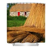 Traditional Thatching, Ireland Shower Curtain