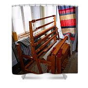 Traditional Weavers Loom Shower Curtain