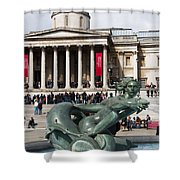 Trafalgar Square With Fountain Shower Curtain