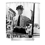 Traffic Cop, 1936 Shower Curtain