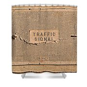 Traffic Signal  Shower Curtain
