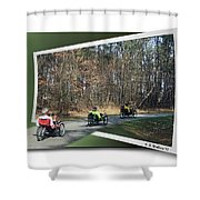 Trail Of Trikes Shower Curtain