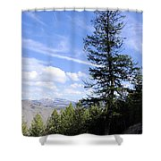Trail Tree View Shower Curtain