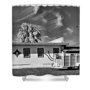 Trailer Town 2 Bw Shower Curtain