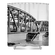 Train Across Bridge Shower Curtain
