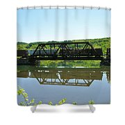 Train And Trestle Shower Curtain